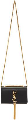 Saint Laurent Black Small Monogram Kate Tassel Satchel $1,890 thestylecure.com