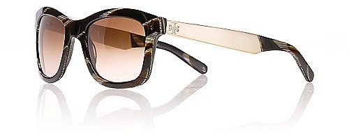 Tory Burch Wayfarer Sunglasses With Metal Logo