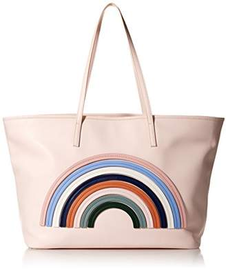 """Dear Drew by Drew Barrymore""""on The Go Petit Vegan Leather Rainbow Tote Bag"""