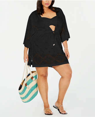Dotti Plus Size Santorini Kimono Cover-Up Women Swimsuit