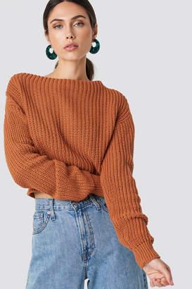 Glamorous Knitted Sweater Cinnamon