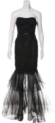 Marchesa Embellished Strapless Gown w/ Tags