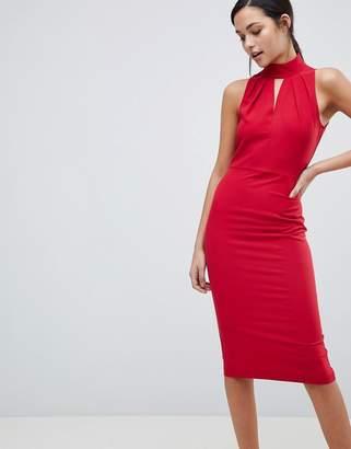 Red Halter Neck Evening Dress - ShopStyle UK