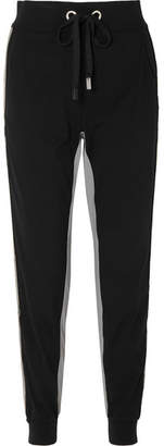 NO KA 'OI NO KA'OI - Kana Striped Stretch Track Pants - Black