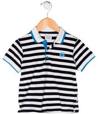 Armani Junior Boys' Collar Striped Shirt
