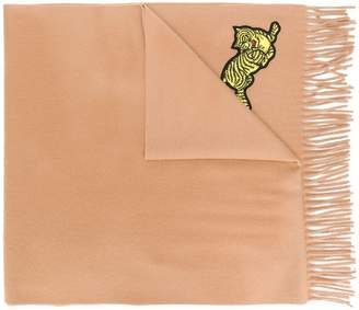 Kenzo tiger embroidered scarf
