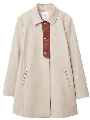 MANGO Buttons cotton trench