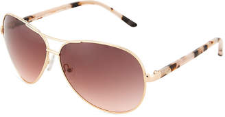 Oscar de la Renta Large Metal Aviator Sunglasses