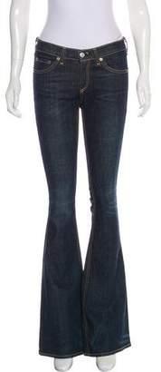 Rag & Bone Mid-Rise Flared Jeans