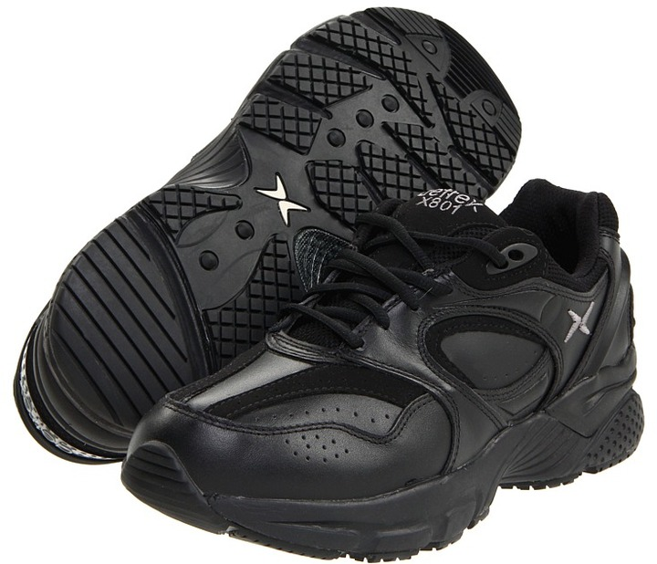 Aetrex Apex Lace Walkers (Black) - Footwear