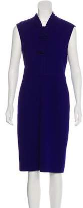 Oscar de la Renta Bow-Accented Wool Dress