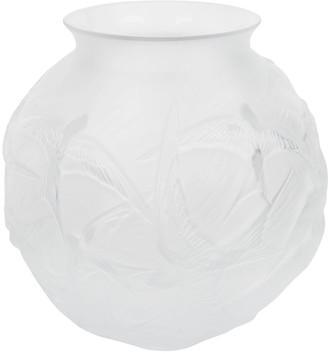Lalique Hirondelles Round Crystal Vase
