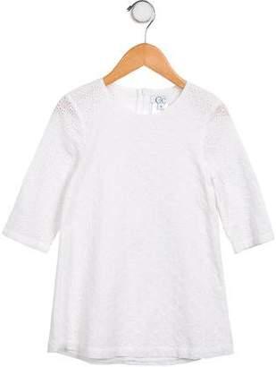 C de C Girls' Eyelet A-Line Dress