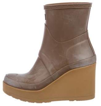 Hunter Rubber Wedge Boots