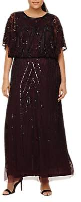 Studio 8 Beaded Maxi Dress, Merlot Black