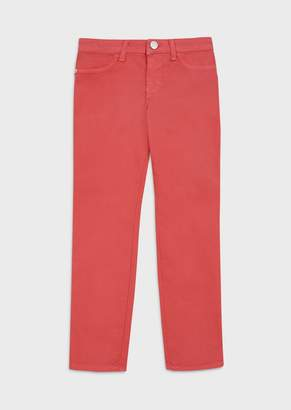 Emporio Armani Trousers In Garment-Dyed Stretch Fabric