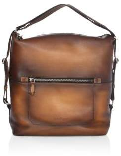 Salvatore Ferragamo Runway Leather Messenger Bag