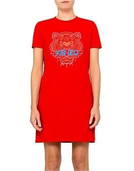 Kenzo Bicolor Tiger Single Jersey Tshirt Dress