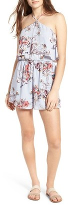 Women's Lush Tie Back High Neck Romper $49 thestylecure.com