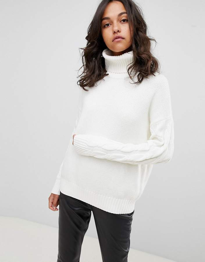 Boss Casual jumper with sleeve detail