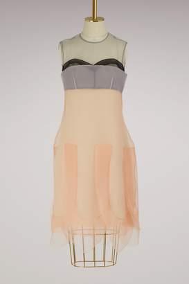 Prada Multi-layered sleeveless dress