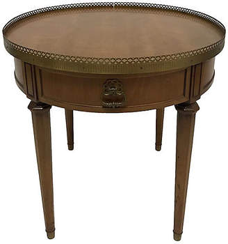 One Kings Lane Vintage French-Style Round Side Table - Madcap Cottage