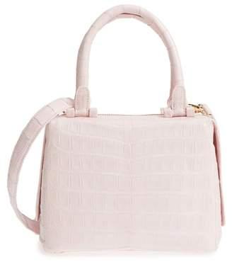 Nancy Gonzalez Small Cube Genuine Crocodile Crossbody Bag