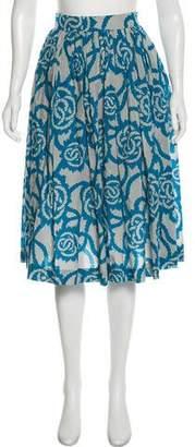 Dries Van Noten Printed Knee-Length Skirt