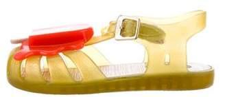 Mini Melissa Girls' Embellished Rubber Sandals