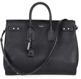 Saint Laurent Carry All Leather Briefcase