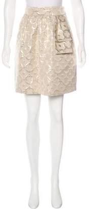 Tibi Metallic Jacquard Mini Skirt