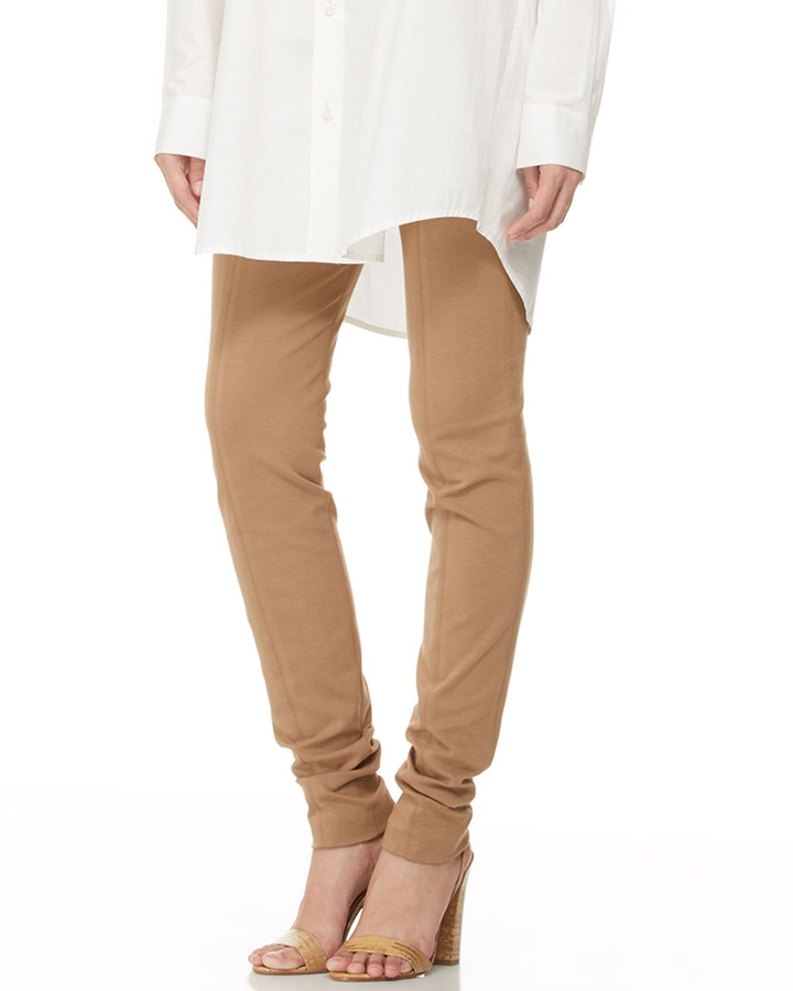 Donna Karan Seamed Pull-On Legging Pants