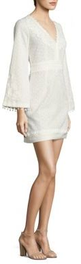 The Kooples Deep V-Neck Lace Dress $425 thestylecure.com