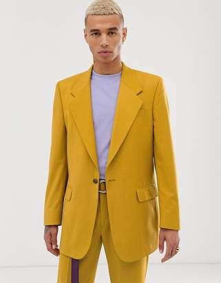 Asos Design DESIGN oversized suit jacket in mustard