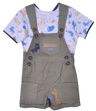 Nannette Baby Boy T-shirt & Shortalls, 2pc Outfit Set