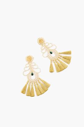Mercedes Salazar White Curubas Nieve Earrings