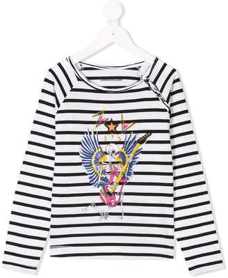 Zadig & Voltaire Kids skeleton motif breton top