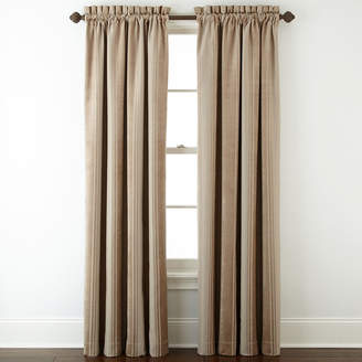 Royal Velvet Kendall Stripe Blackout Rod-Pocket Curtain Panel