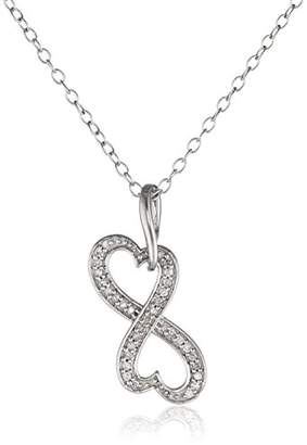 Heart Infinity Diamond Pendant Necklace