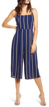 Rowa Row A Sleeveless Striped Jumpsuit
