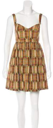 Ali Ro Sleeveless Plaid Mini Dress