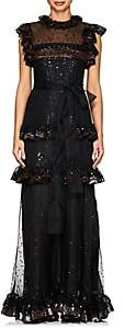 Valentino Women's Sequined Silk Organza Gown - Black