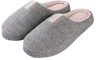 Aerusi Women Close Toe Comfort Memory Foam Home Slipper Shoe