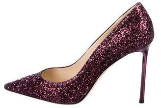 Jimmy Choo Glitter Pointed-Toe Pumps