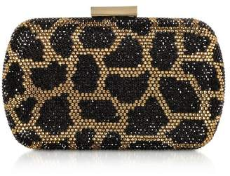 Love Moschino Black And Gold Satin Clutch
