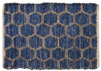 """Ess Ess Exports Beehive Modern Area Rug 24""""X36"""" Blue Ess Ess Exports"""