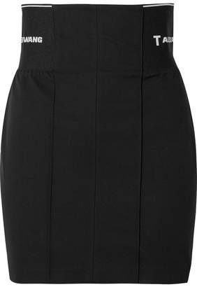 Alexander Wang Paneled Cotton-blend Twill Mini Skirt - Black
