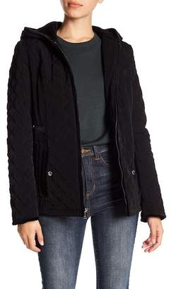 Laundry by Shelli Segal Velvet Trim Quilted Jacket