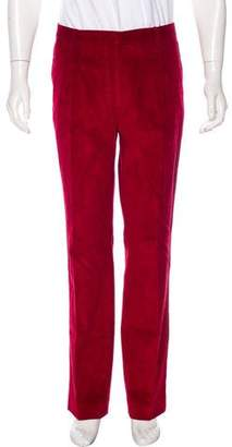 Burberry Velvet Corduroy Flat Front Pants