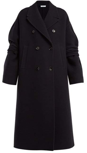 Fidenza Wool And Cashmere Blend Coat - Womens - Dark Blue